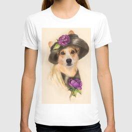 Corgi dog lady T-shirt