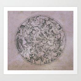 Vintage Constellations & Astrological Signs   Beetroot Paper Art Print