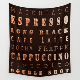 Coffee Types Poster Wall Tapestry