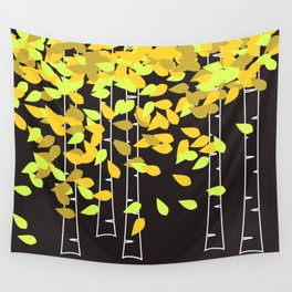 Autumn Birches Wall Tapestry