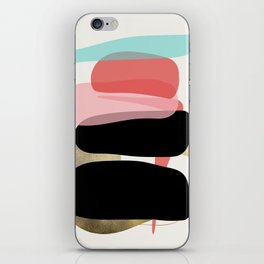 Modern minimal forms 1 iPhone Skin