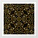 Gold Knight Medieval Geometric Pattern by webgrrl