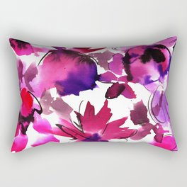 Sara Floral Pink Rectangular Pillow
