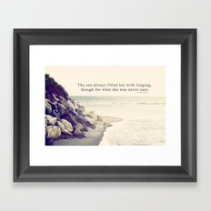 Filled with Longing Framed Art Print