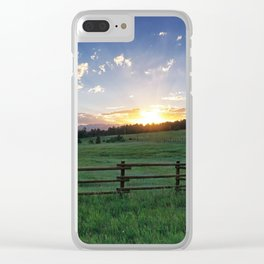 Foothills Sunset Clear iPhone Case