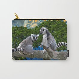 Playful Lemur-ick  Carry-All Pouch