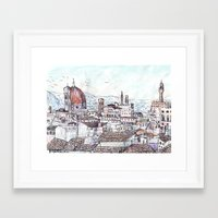 magnani Framed Art Prints featuring Florence at Dusk from Palazzo Magnani Feroni by John Douglas