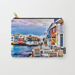 Cafe on Mykonos Beach Carry-All Pouch