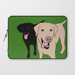 Tanner and Lily Best Labrador Buddies Laptop Sleeve