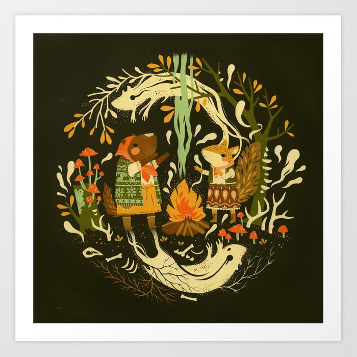 Animal Chants & Forest Whispers Art Print