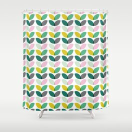 Abstract floral blooms summer print Shower Curtain