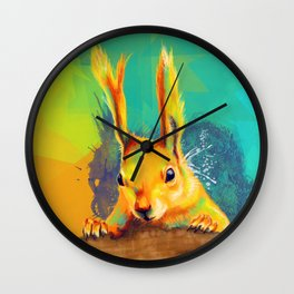 Tassel-eared Squirrel Wall Clock