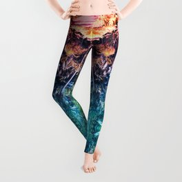 Acid Tropic Kaleidoscope Leggings