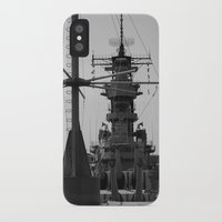 wisconsin iPhone & iPod Cases featuring USS Wisconsin by Kelly Stiles