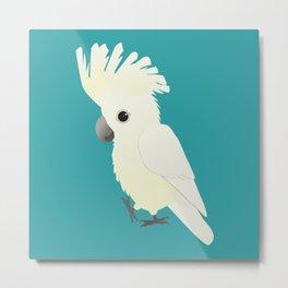 White umbrella cockatoo Metal Print