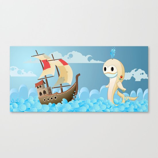 Moby the whale Canvas Print