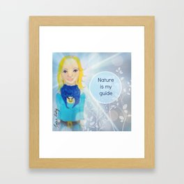 Nature is my guide Muse Mantra Framed Art Print