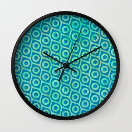 turquoise Pattern Wall Clock