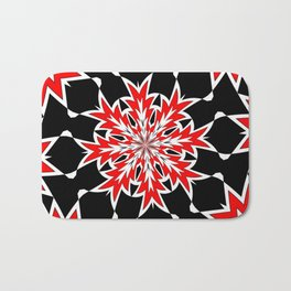 Bizarre Red Black and White Pattern 2 Bath Mat