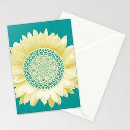 Sunflower Mandala Stationery Cards