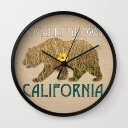 Locally Grown: California Wall Clock