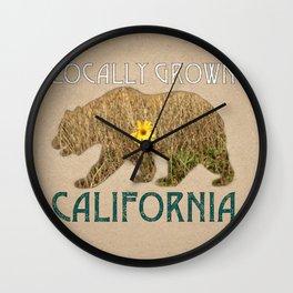 Locally Grown: California Wall Clock