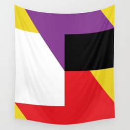 Same as before... a lot of colorful polygons, maybe a parallelepiped. Yo! Wall Tapestry