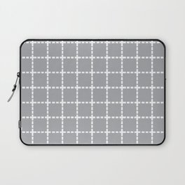 Dotted Grid Grey Laptop Sleeve