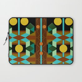 Modern Geometric Textured Abstract Laptop Sleeve