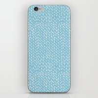 Hand Knit Sky Blue iPhone & iPod Skin