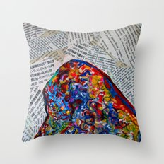 YIN YANG WORDS Throw Pillow