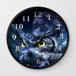 Owl and Night Sky Wall Clock