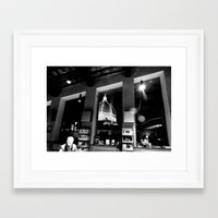 cafe Framed Art Prints featuring Cafe by Ashley Lynette Williams