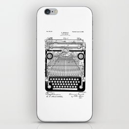 patent art Granville Type Writer 1900 iPhone Skin