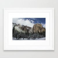 yosemite Framed Art Prints featuring Yosemite by Michelle Chavez