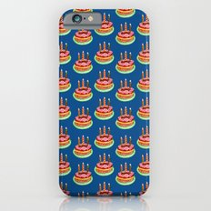 Birthday cake in watercolor iPhone 6s Slim Case