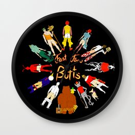 Fast Food Butts with Text Wall Clock