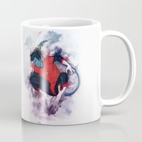 nightcrawler Mugs featuring Jumper by ribkaDory