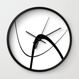 Interlocking Two B Wall Clock