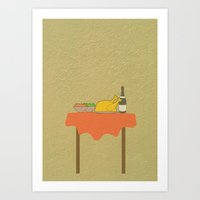 thanksgiving Art Prints featuring Thanksgiving by Suchita Isaac