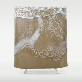 How to hold a wave upon the sand Shower Curtain
