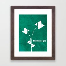 Slottsskogen original artwork by Det mekaniska undret Framed Art Print