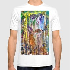 Crying White MEDIUM Mens Fitted Tee