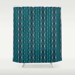Gray Dots Shower Curtains