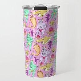 Paisley Pink Monsters Travel Mug