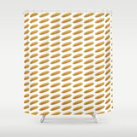 bread Shower Curtains featuring bread by Bread Sports