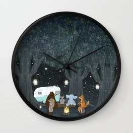 camping time Wall Clock