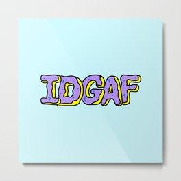IDGAF Violet Donuts Metal Print