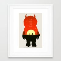 wild things Framed Art Prints featuring Wild Things by Duke Dastardly