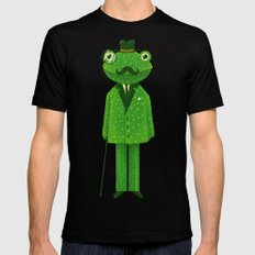 Mr. Frog LARGE Black Mens Fitted Tee